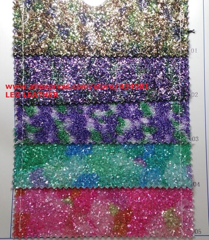 Chunky Glitter Pour De Noël Synthétique En Cuir Faux Cuir Tissu Glitter En Cuir avec Couleurs Glitter Pour Coudre DIY P759