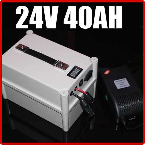 24V 40AH LiFePO4 Battery Portable Battery ,Electric bicycle Scooter Pack Solar energy, waterproof 24v lithium Free Shipping