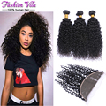 Malaysian Curly Hair With Frontal Closure Ear To Ear Lace Frontal Closure With Bundles Cheap Curly Weave Human Hair With Frontal