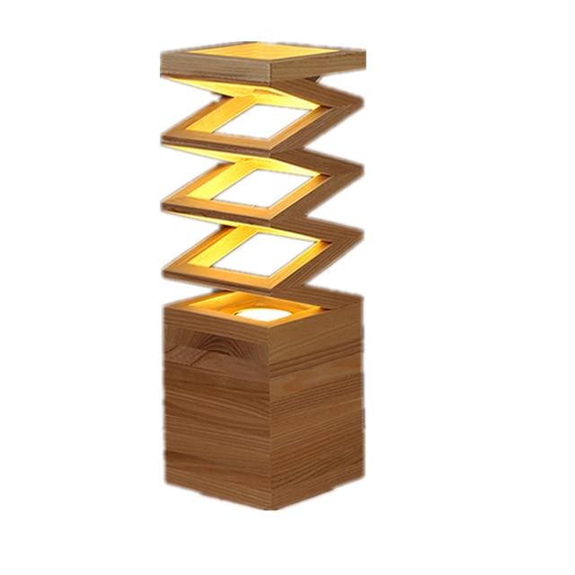 Modern Wooden Table Lamp E27 Led Lamps For Table Holder 110 260V Parlor  Indoor Study Desktop Lighting Wooden Desk Lamp Vintage