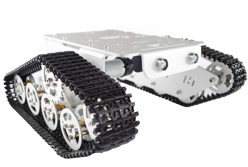 Aluminum Alloy Metal Wall-E Tank Track Caterpillar Chassis for Arduino SN1200