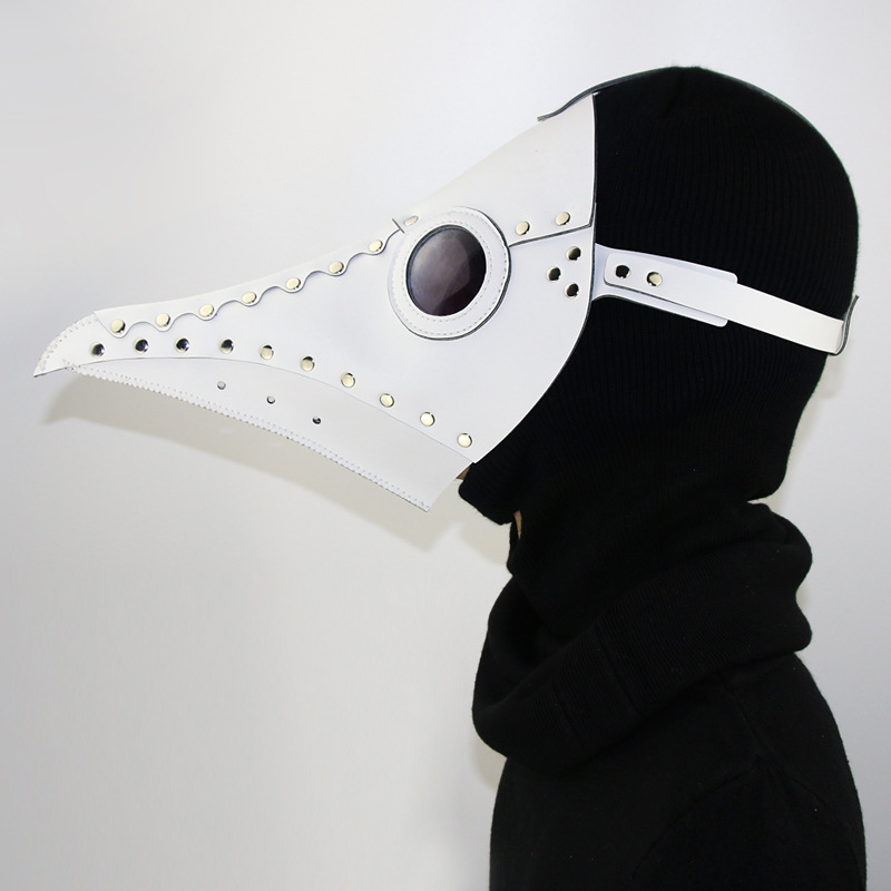 Steampunk Plague Doctors Mask PU Leather Long Nose Beaked Face Masks Halloween Steampunk Costume Party Masks