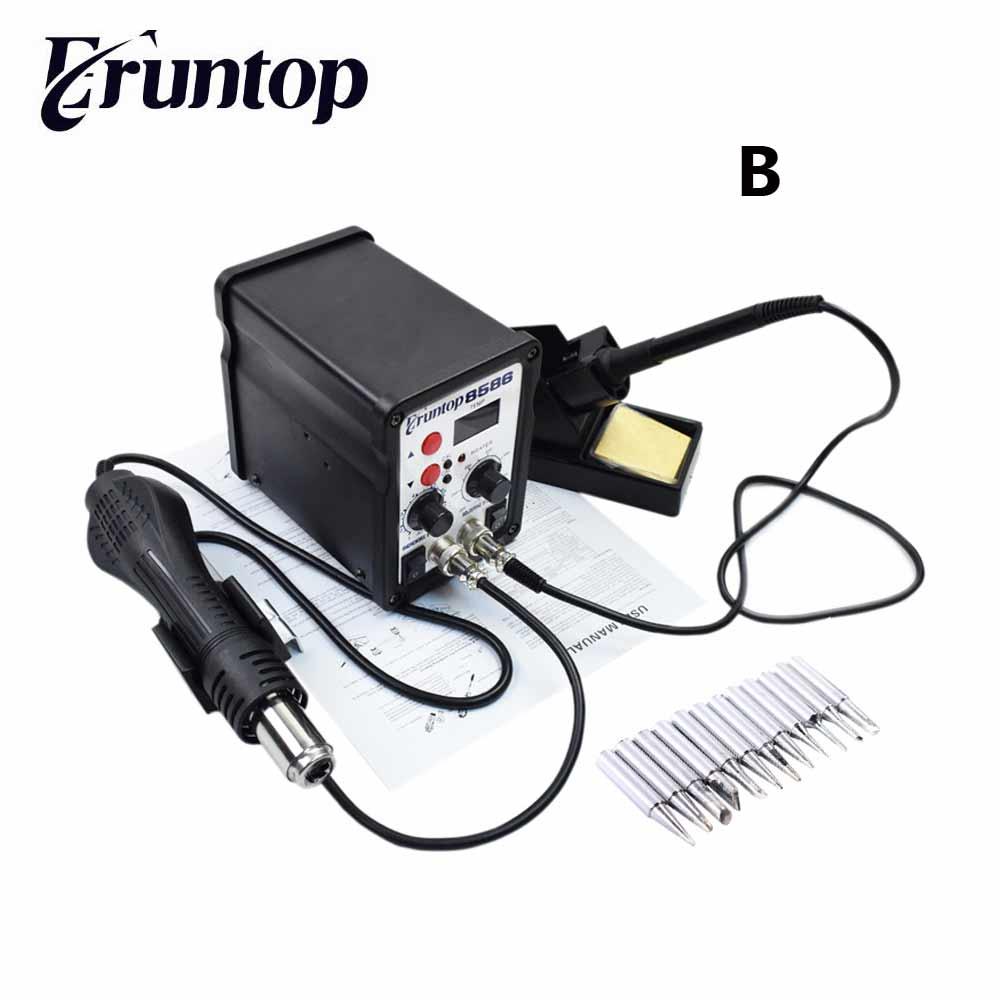 buy 2in1 esd electric soldering iron eruntop 8586 hot air gu. Black Bedroom Furniture Sets. Home Design Ideas