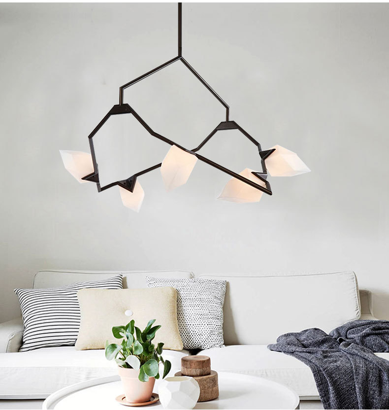 New Personality Designer Chandelier Ceiling Bedroom Living Room Foyer Post Modern  Decoration G9 Lighting Peach Hanging Lamp In Chandeliers From Lights ...