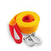 Free Shipping 5M 8Tons Tow Cable Tow Strap Car Towing Rope With Hooks Universal Tow Eye