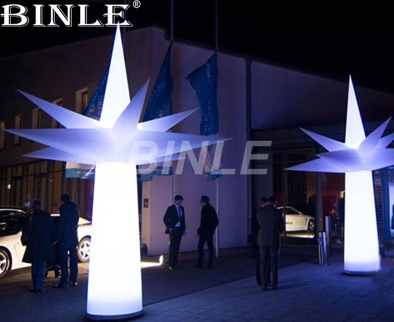Light up 3.5mH giant inflatable led tree outdoor party decoration inflatable palm tree cone for sale