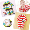 0-12M Autumn Fleece Baby Rompers Cute Cartoon Clothing Set for Baby Boys Infant Baby Girls Clothes Jumpsuits Foot Coveralls