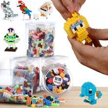 Mini diamond particles assembled blocks DIY creative building blocks toy building blocks canned