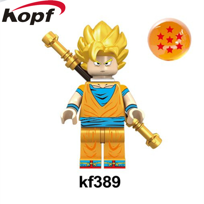 KF389 Dragon Ball Z Figures Vegeta Goku Super Sayayin God Perfect Cell Gohan Building Blocks Education For Children Gift Toys dragon ball z figures goku vegeta