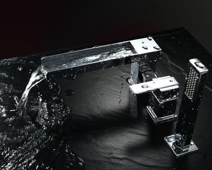 Кран для раковины, водопроводный кран для ванной комнаты, 3 шт./компл., смеситель для раковины с ручным душем orneira banheiro BF085