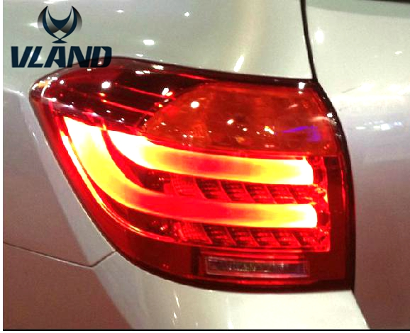 Free shipping vland Factory for toyota  Highlander led taillight 2008 2009 2010 2011 plug and play design free shipping vland factory car parts for camry led taillight 2006 2007 2008 2011 plug and play car led taill lights
