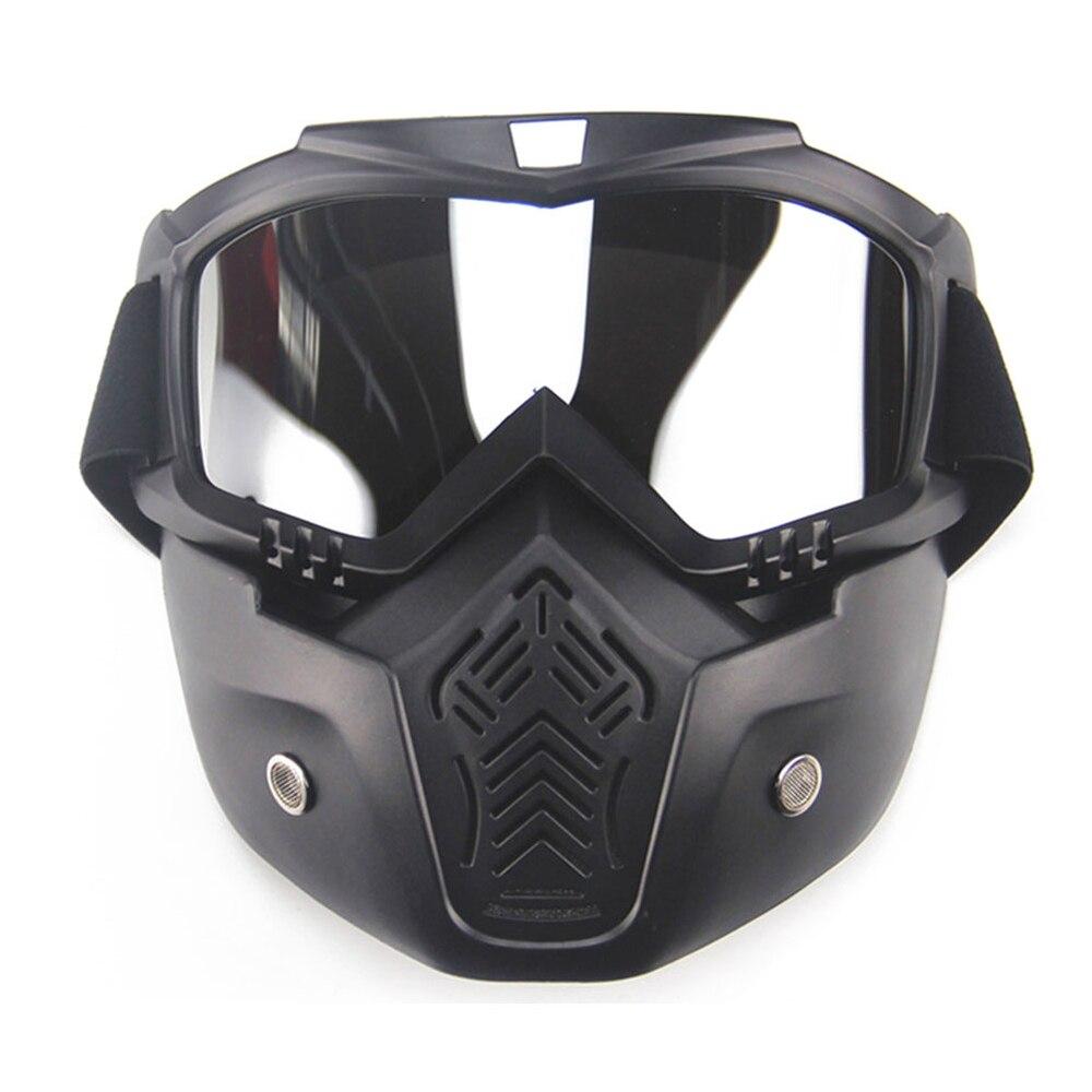 Новый Мото-маска мотокросса мотоцикл Лыжный Спорт модульная маска мото шлем Очки для открытого Уход за кожей лица Винтаж Ретро шлем