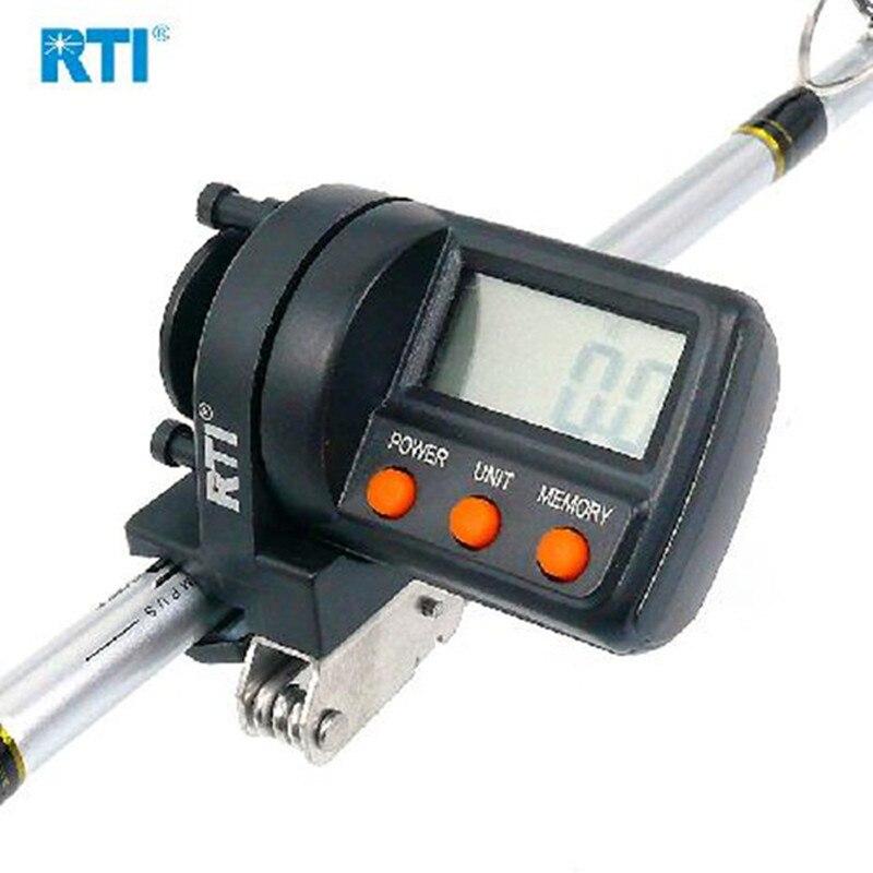 RTI 999 m Linha De Pesca Balcão Plástico ABS Display Digital Medidor Medidor de Profundidade Finder Carretel de Pesca Ferramenta de Pesca Pará Acesorios enfrentar