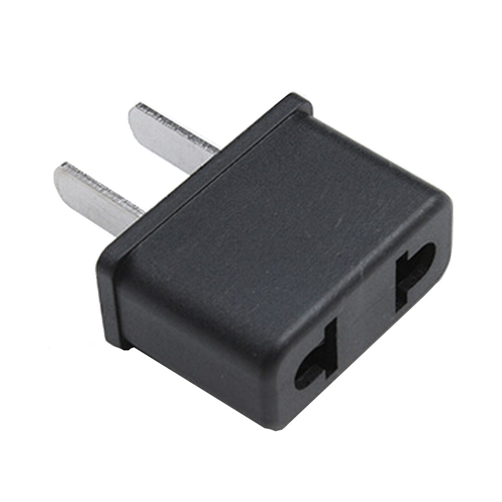 Hiperdeal Black Color Usa Us To Eu Europe Au Charger Power Plug Ac Wire Colors Adapter Converter Wall Home Business Travel Qiy24 D3s In International