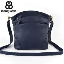 BARHEE Women Multi Pockets Genuine Leather Handbag High Quality First Layer Cowhide Messenger Bag Casual Female Crossbody Bags стоимость