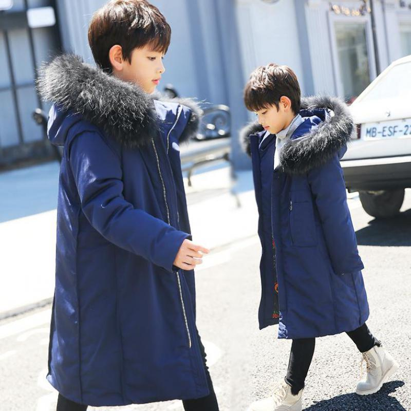 2018 Boys Winter Jacket For Boy Children Duck Down Coat Kids Long Fur Parka Boys Outerwear Infant Overcoat Snow Wear Costumes boys costumes scholar costumes chivalrous person costumes novelty costumes ancient chinese wear
