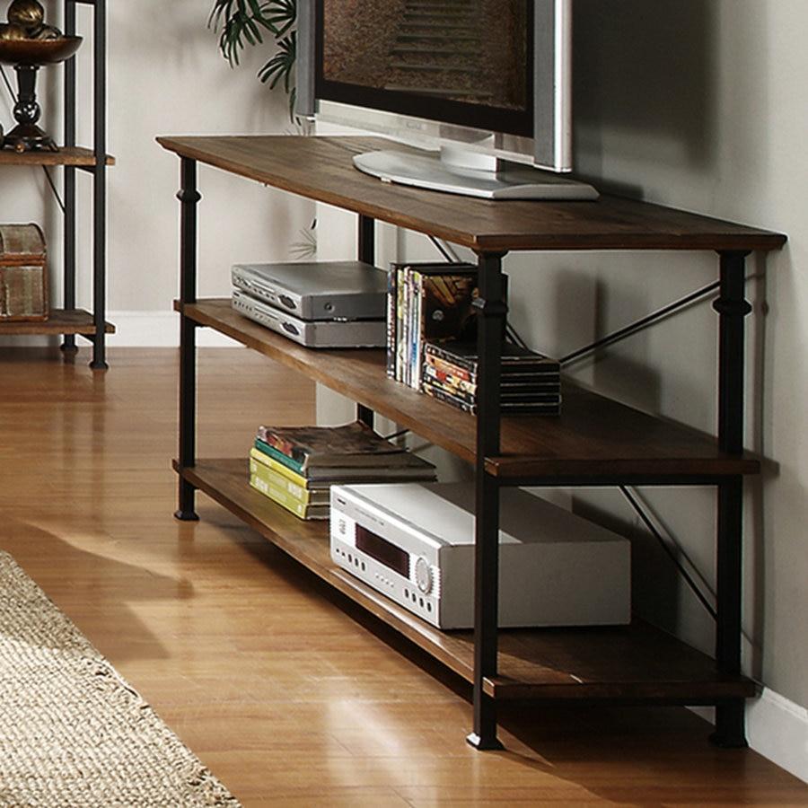 Amerikaanse land meubilair, Smeedijzeren houten tv kast