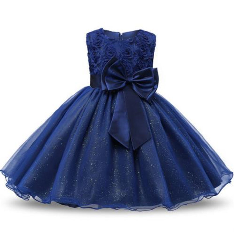 Girls Clothes Princess Flower Girl Dress For Wedding Sequin Party Girl Baptism Dress Kid Dresses Vestidos 2-10T birthday Dress