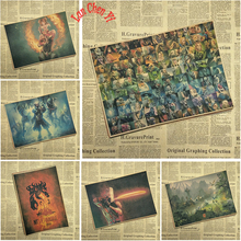 DOTA Series 2 Electronic competitive game Poster Kraft paper wall Brown Bar Cafe living room Posters