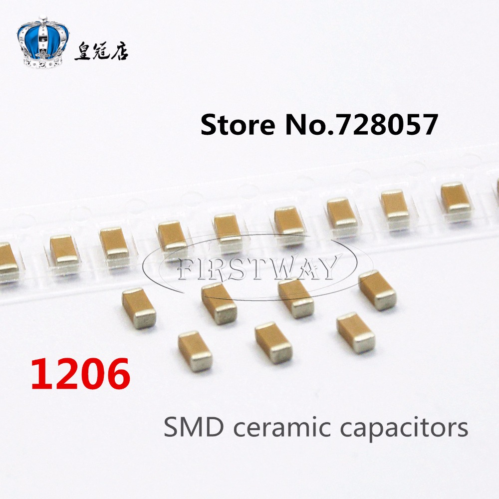 1206 104K 100NF 250V 200V X7R 10% 100pcs/lot Free shipping SMD ceramic capacitors 50pcs lot fr9220 200v 3 6a