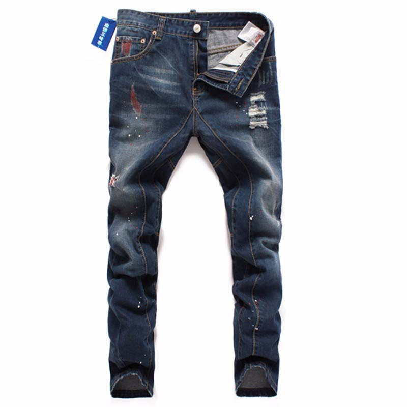 2018 Famous Brand Upscale Cotton Men Jeans Designer Trouser European and American High Quality Casual Style Pant Male Jeans Men high quality famous brand upscale 100