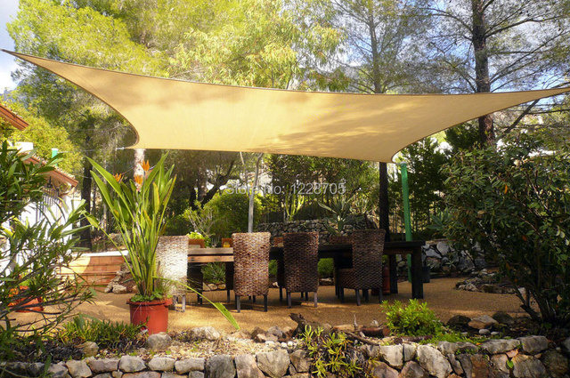 10ft Rectangular Waterproof Awning Garden Sun Shade Sail Poly Cotton Pu Coated