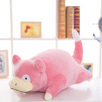 цена на Slowpoke Plush stuffed hippo Pillow toys for children quality Gift Soft Cute Cartoon Anime kawaii