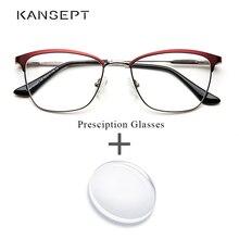 981cf01c45 Metall Frauen Rezept Brille gläser Optische Progressive Multifokale  Photochrome Anti Blue Ray Klar Brillen Für Frauen