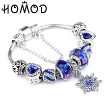 HOMOD Dropshipping European Beads Charm Women Bracelets Fashion Brand Bangles For Jewelry Female Gift