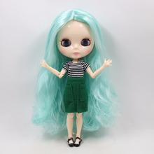 Factory Neo Blythe Doll Wavy Mint Green Hair Jointed Body 30cm