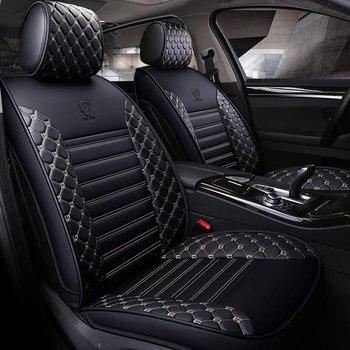 pu leather car seat cover universal auto seat protector mat for hyundai veloster veracruz verna elantra santa fe solaris genesis
