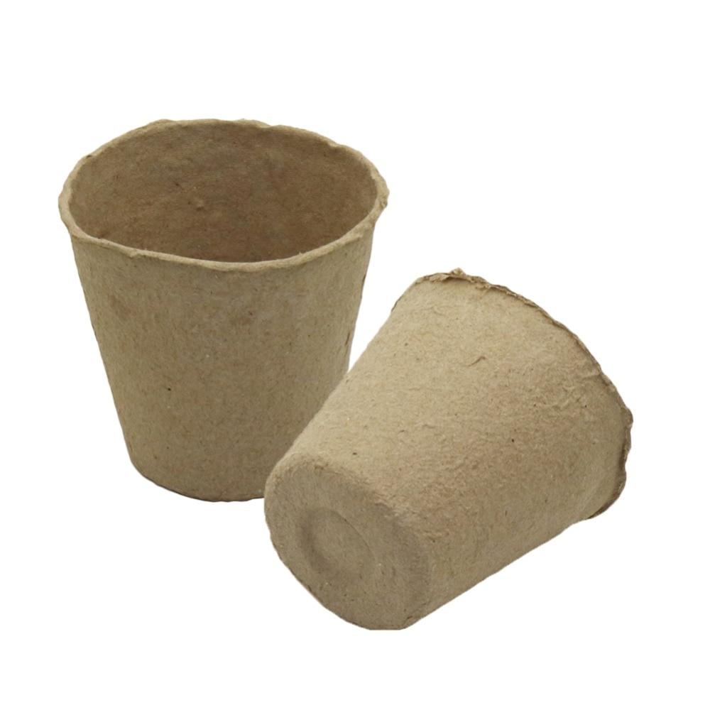 Balcony Nursery cultivation Peat Pots Garden Planting Seedling Starters Cups Biodegradable Flower pots 10 Pcs