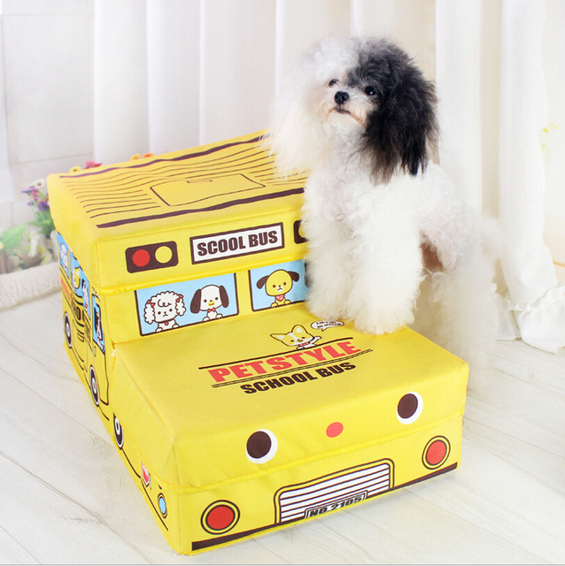 dog storage furniture. Petstyle Pet Step Stairs Dog Cat Storage Folding School Bus Easy Up Bed Furniture