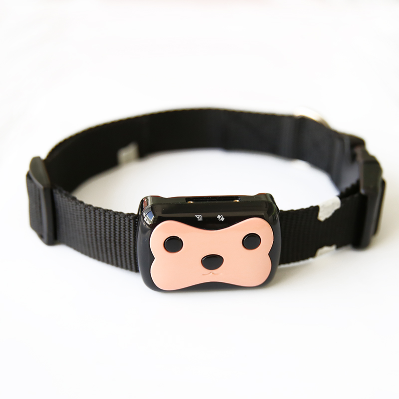 Mini Pet Gps Tracker Waterproof Smart Gps Tracker With Collar For Pets Cat Dog Gpslbs Location Free App Led Indicator
