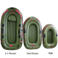 Inflatable Boat High Strength PVC Rubber Fishing Boat with Paddles Pump Patching Kit for kids adult Drifting Water Skiing Boat