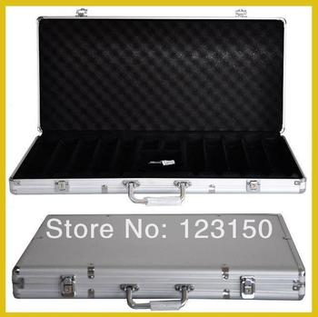 AC-008  High Quality Poker Chip Aluminum Case for holding 750pcs chips, Silver