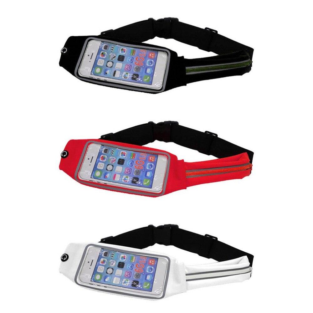 Collection Here Women Men Waist Bag Sport Waist Bag Screen Touching Waterproof Running Belt Pouch Mobile Phone Holder For Phone 370x10x100mm