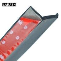 2 5M Soft Black Rubber Bumper Auto Rubber Moulding Bumper Protector Outside Front Bumper Lip Kit