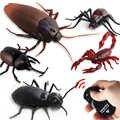 적외선 원격 제어 바퀴벌레 시뮬레이션 동물 소름 끼치는 거미 버그 장난 장난 rc 키즈 장난감 선물 고품질 드롭 배송
