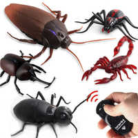 Infrared Remote Control Cockroach Simulation Animal Creepy Spider Bug Prank Fun RC Kids Toy Gift High Quality Drop Shipping