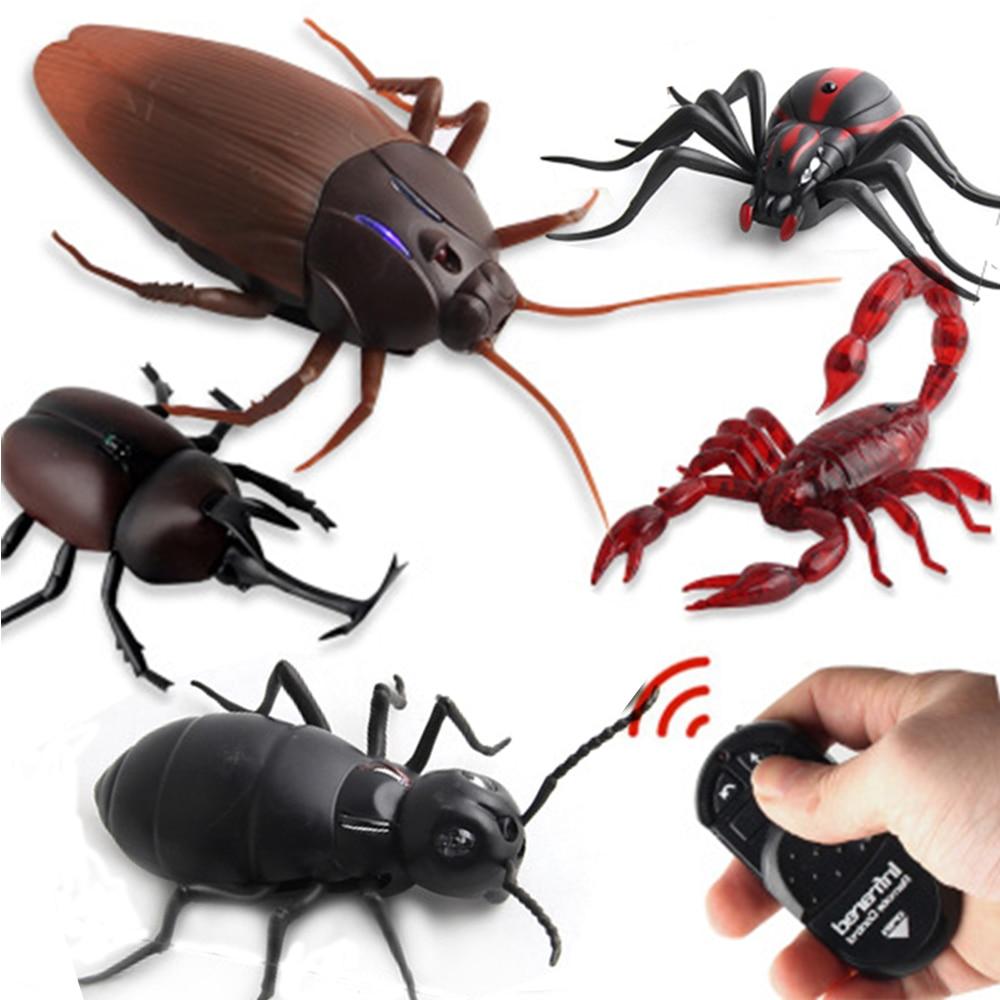 controle remoto infravermelho barata simulacao animal assustador aranha bug brincadeira divertido rc criancas brinquedo presente de