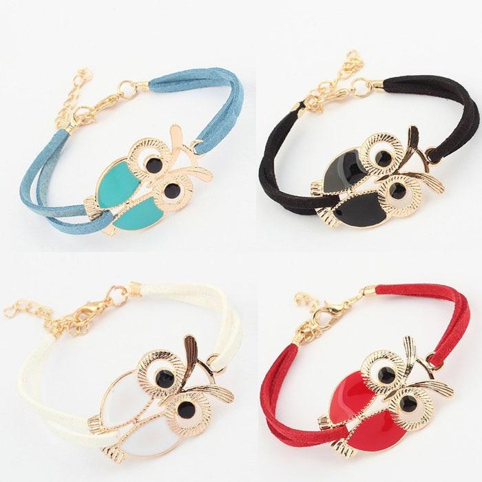 Vintage Owl Leather Bracelets