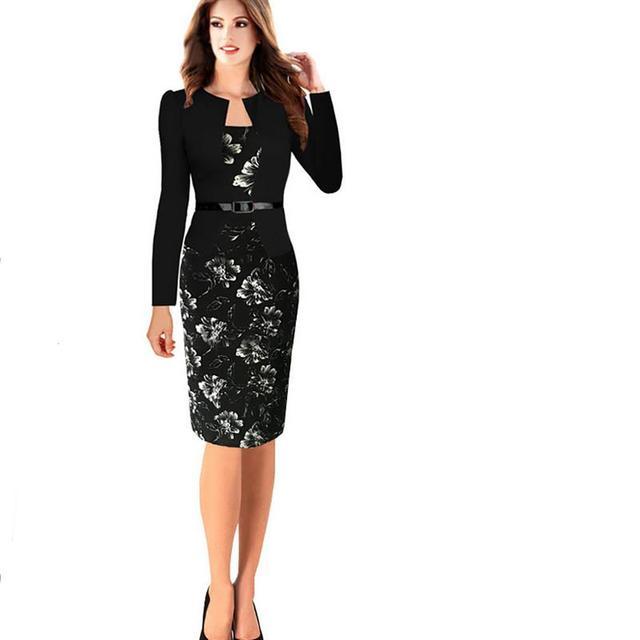 97e8301969596c Professionele vrouwen zomer foreman kleding overalls retro elegante business  kantoor potlood bodycon midi dress plue size