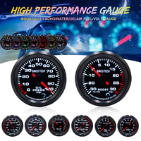 Car Gauge 52mm LED Digital Display EXT temp/Air Fuel/Volts/Oil press/Oil Temp/Water temp/Boost/Tachometer Gauge Aluminum 7 Color