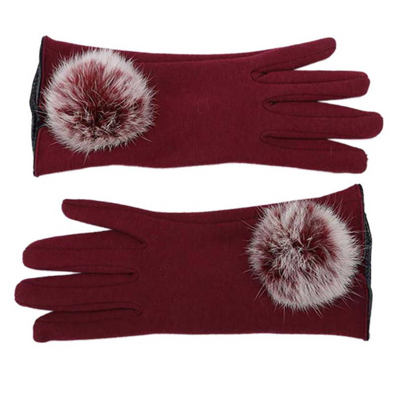 Stylish and Comfortable Touch Screen Gloves made of Cotton with Lace for All Touch Screen Device Suitable for Winter 4