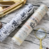 Large Size 200mm 5M Map Poste Letter Renaissanc Japanese Washi Decorative Adhesive Tape DIY Masking Paper