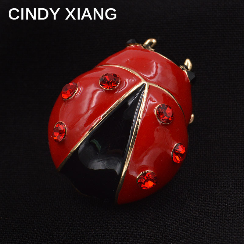 Red Color Cute Enamel Aphid Brooches Unisex Brooch Pin Women Men Jewelry Backpack Badges Bijouterie Broches Hot Sale