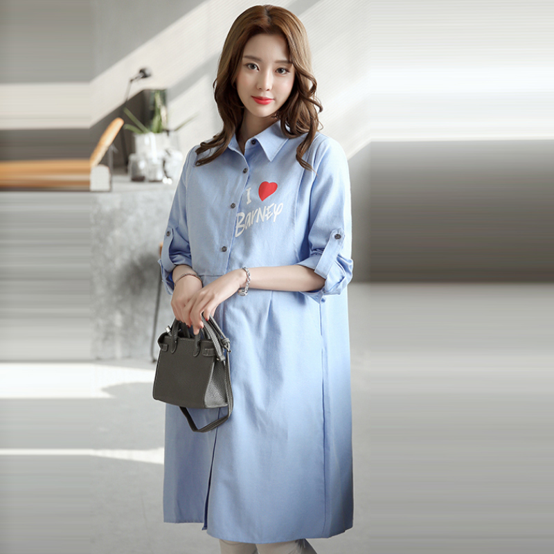 dc5fd2605 Coreano dress embarazo ropa de maternidad lactancia desgaste camisa larga  blusa vestidos vestido premama enfermería embarazada ropa en Vestidos de La  madre ...