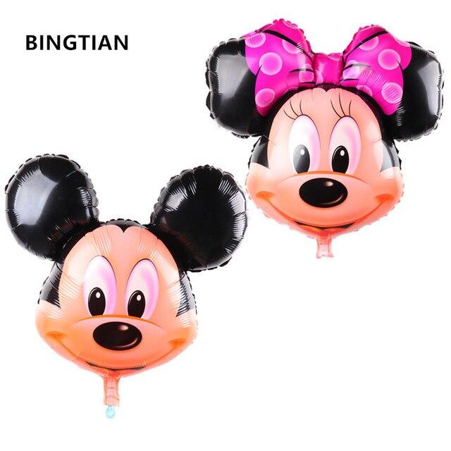 Bingtian 1 Pz Alluminio Palloncini Minnie Mickey Capo Palloncino