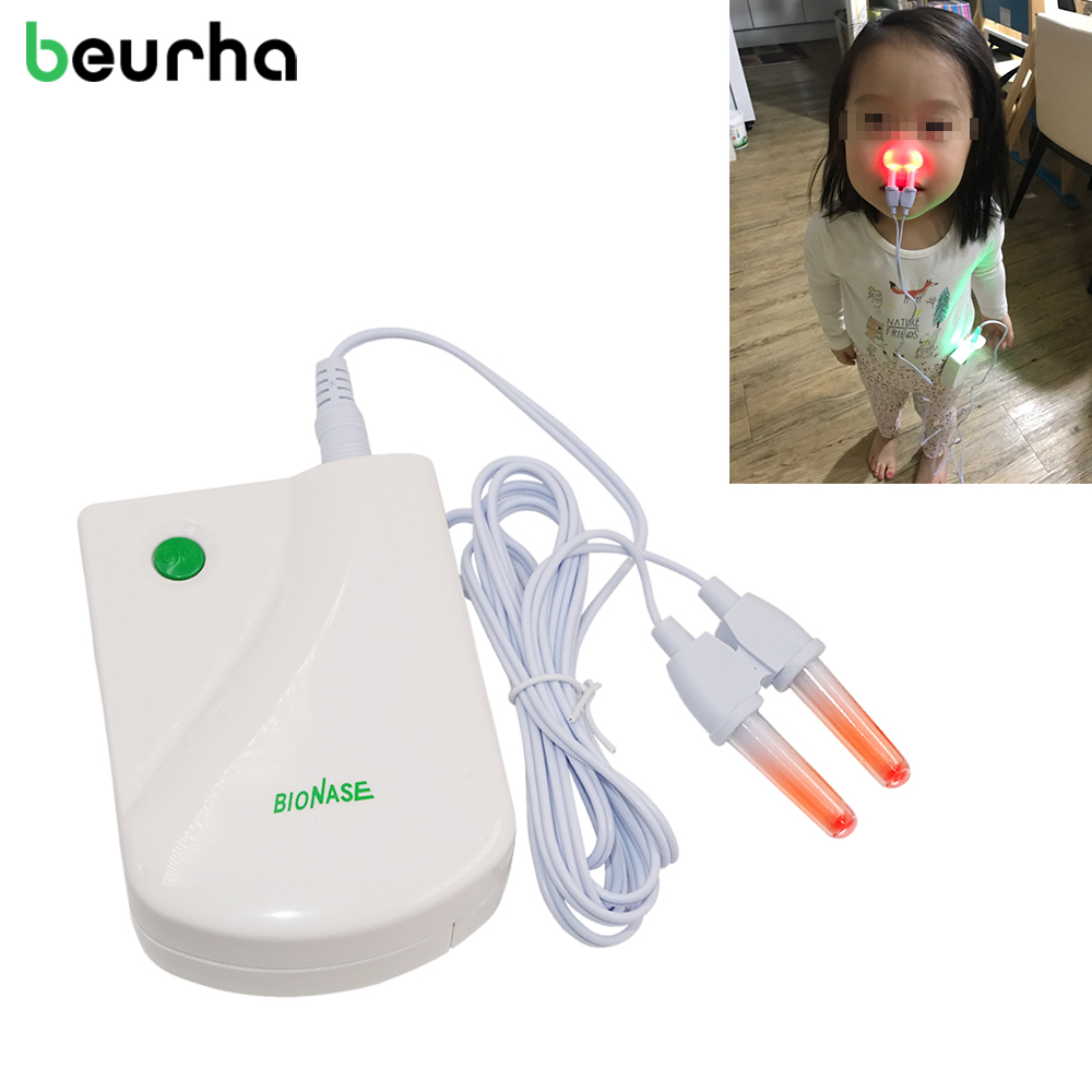 Beurha Health Care BioNase Nose Rhinitis Sinusitis Cure Treatment Hay Fever Low Frequency Pulse Laser Therapy Massage Instrument 3pack rhinitis spray rhinitis sinusitis nasal congestion itchy nose allergic rhinitis nosal spray chinese herbal treatment
